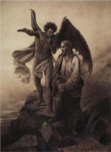 Temptation of Christ by Vasily Surikov, St. Petersburg, Russia, 1872.