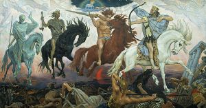 The Four Horsemen of the Apocalypse, by Russian artist Victor Vasnetsov, 1887.